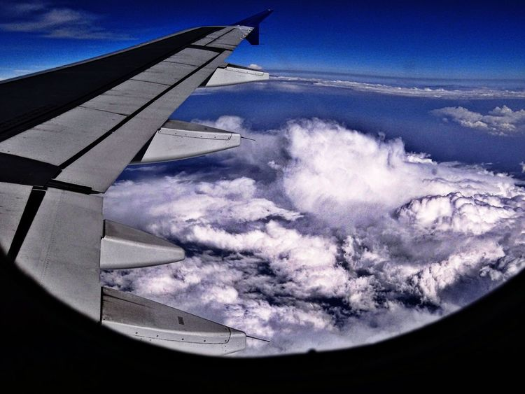 Sky Cloud - Sky Airplane Flying Outdoors Aerial View Beauty In Nature Close-up EyeEm Selects Nature Photography Travel Destinations Beauty In Nature Love Nature EyeEm Nature Lover Aeroplane Window View The Week On EyeEm