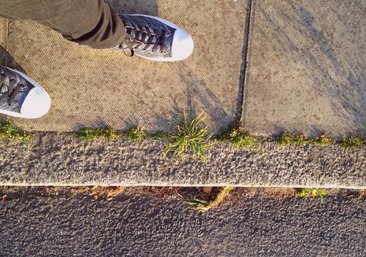 The road ahead London Road Ahead TuffnellPark Feet Shoes Pavement Walking Sunlight Golden