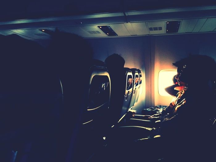 In the air Airplane From An Airplane Window At The Airport Thailand_allshots