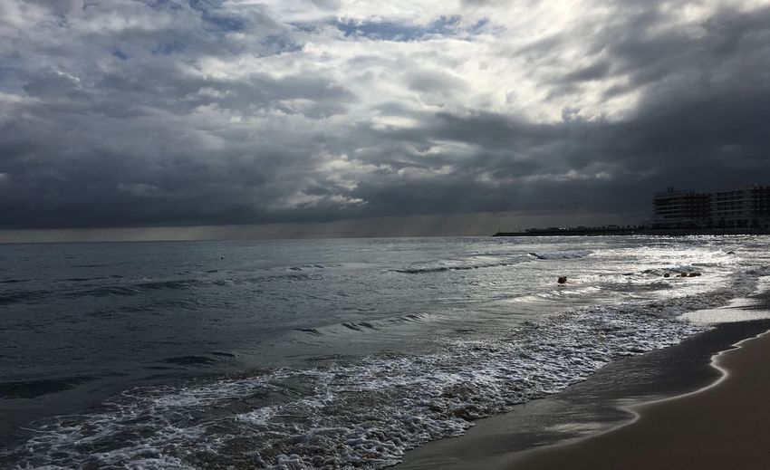 Panoramic View From The Beach Stormy Afternoon Beauty In Nature Photography And Poetry Beauty In Nature Photo Collection Beach Sea Mediterranean Coast