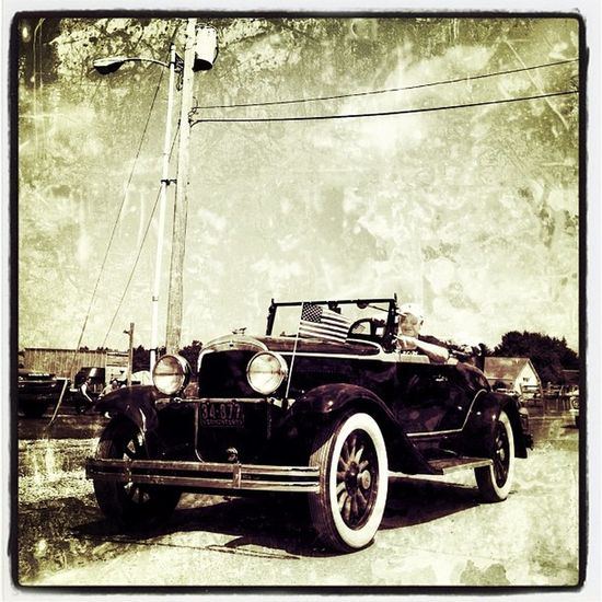 Old Wheels Require an Old Look. Vt Btv Old 802 IPhoneography Miltonvt Vintage Vt_scene Car Vermont_scene Parade Independenceday Nostalgia Igvermont Grunge Oldlook Iphoneonly Vermont Webstagram July4th Gmy 4thofjuly 4th