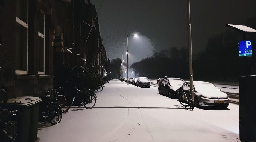 My street Snow ❄ Snowing Snow Covered Streetphotography Street Street Photography Night Nightphotography Night Lights Nightlife Calm Illuminated Light And Shadow Light Traffic Lights EyeEm Best Shots Wintertime Freezing Eye4photography  Dutch Houses House Built Structure Snow Cold Temperature Winter Snowing Snowfall Snowflake Frost