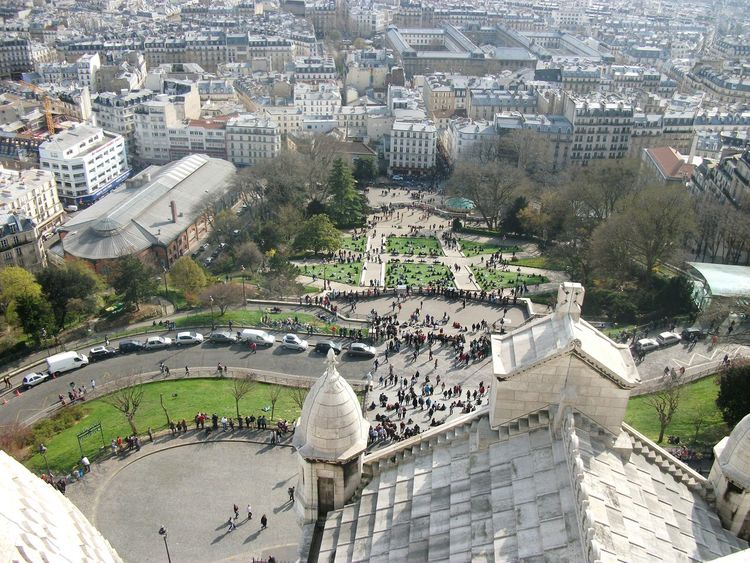 High Angle View Building Exterior Cityscape Day View France Paris Travel Photography Tourism Travel Outdoors Montmartre