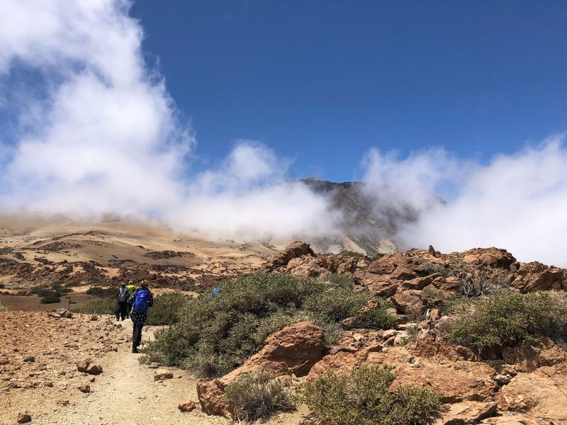 Hiking, Teide National Park, Tenerife 🇪🇸 Mount Teide Tenerife Mountain Hiking Teide National Park Volcano Teide Nofilter Cloud - Sky SPAIN Clouds Sky Real People Landscape Mountain Beauty In Nature Leisure Activity Scenics - Nature Cloud - Sky Environment Tranquil Scene Geology Outdoors Nature Travel