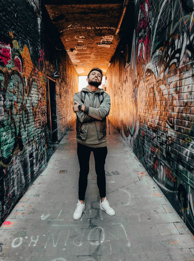 My Best Photo One Person Front View Full Length Real People Standing Casual Clothing Architecture Graffiti Wall - Building Feature Young Adult Lifestyles Portrait Young Men Built Structure Leisure Activity Wall Direction Creativity Day Outdoors