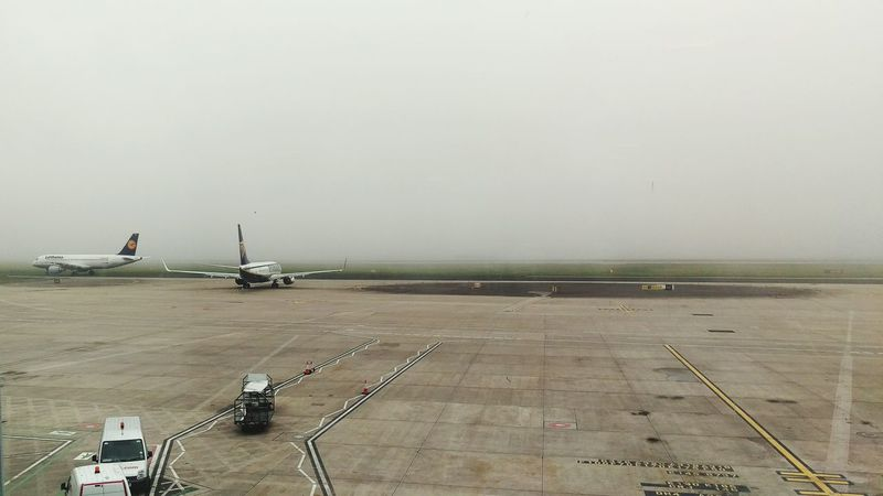 Starting A Trip, wee bit foggy at the Airport...😯✈
