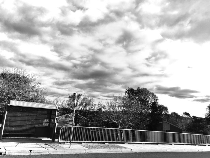 Minimal Bus Stop Conder Canberra Blackandwhite Photography