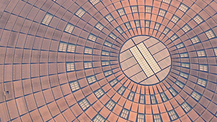 Architecture Dronephotography Droneshot SpaceShip Backgrounds Full Frame Pattern No People Textured  Brown Shape Geometric Shape Circle Design Day Architecture Built Structure Outdoors Red Sunlight Repetition Roof Close-up Architecture Circle Shape Dome Modern