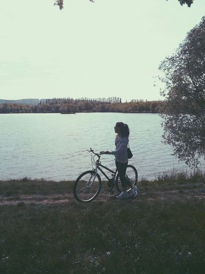 Throwback Butitaintthursdaybro Nevermind Lake Sister Homesick  Chill Spring Darkness And Light Bicycle Trip