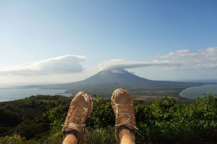 An Eye For Travel Dirt Hiking Mountain Nicaragua Ometepe Outdoors Scenics Shoes Solitude Tranquility View Vulcano Lago Nicaragua Volcán Concepción Volcan Maderas Travel Landscape Out Of The Box Done That.