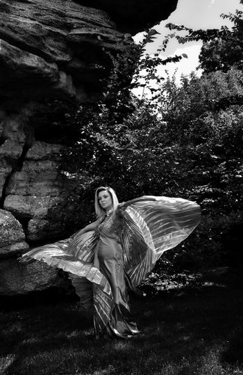 Beauty Young Women Beautiful Woman Outdoors Nature Dancing Spinning Motion Action Fabric Natural Lighting Photography Fine Art Photoghraphy Bnw Black And White Photography