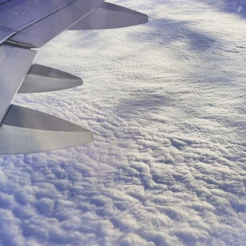 Cloud ocean above Germany, somewhere above Frankfurt! Flyingmuc Lufthansa LH1991 Inspiredby