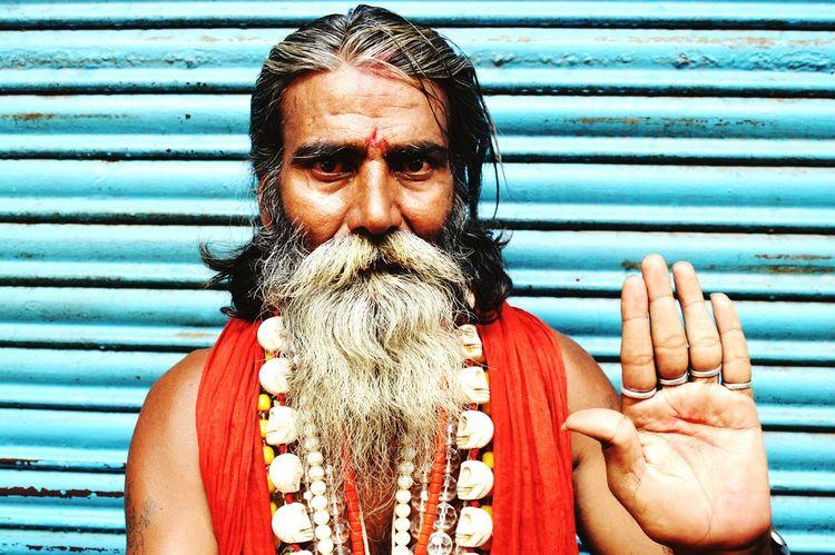 "A ""baba"" in the streets of haridwar. Mid Adult Looking At Camera Beard Men Close-up Haridwar Ganga Ghat Ganga Pandit Sadhu Sadhu Of India Sadhu Ganga The Week On EyeEm"