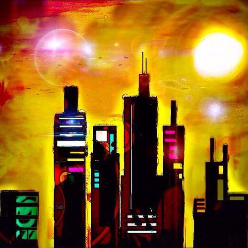 City Sky Space Art