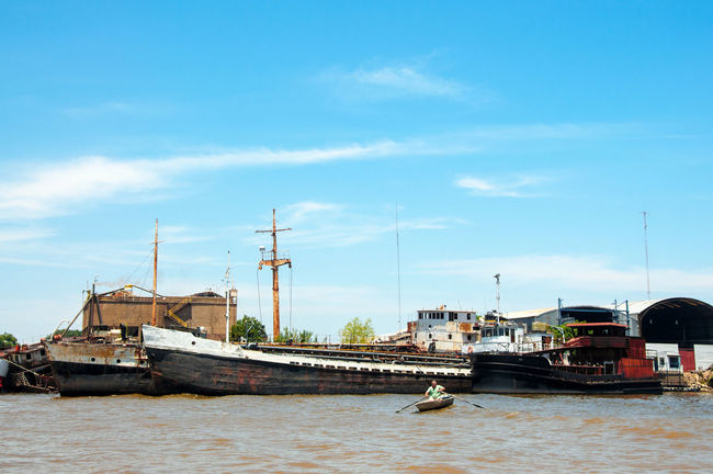 Old worn out boats on the Rive Plate in Buenos Aires Argentina Boat Boats Borken Buenos Aires Buenos Aires, Argentina  Damaged Float Harbor Marine Maritime Nautical Nautical Vessel Neglected Old Outdoors Rio De La Plata River River Plate Ship South America Transportation Vessel Water Waterfront