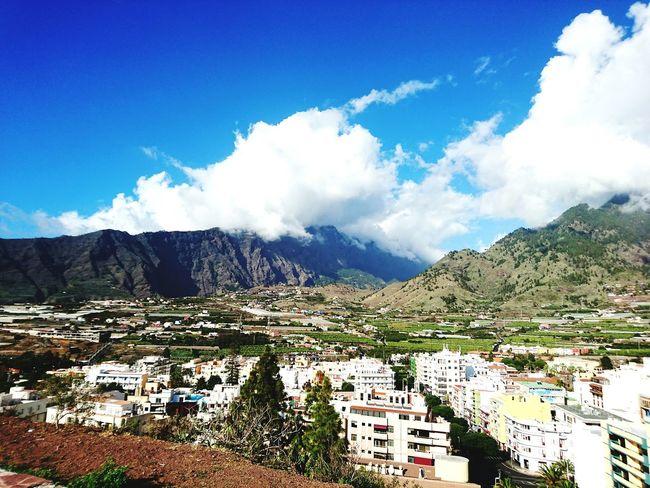 LaPalma Laislabonita Canary Islands Islas Canarias Landscape Montains    Sky And Clouds Skyblue