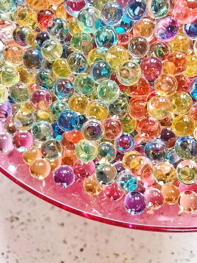 Water Bubble Beads Colorful Full Frame Pattern No People Day Backgrounds High Angle View Water