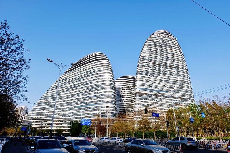 望京SOHO 建筑 望京soho 北京 Transportation Nature Travel Building Office Building Exterior Street City First Eyeem Photo