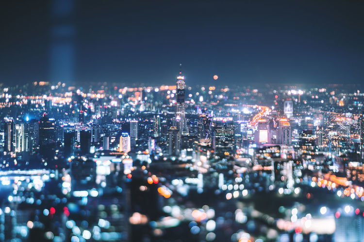 Bangkok City for Light. City Building Exterior Cityscape Illuminated Architecture Built Structure Night Building Crowded Crowd Modern High Angle View Skyscraper Office Building Exterior City Life Residential District Aerial View Travel Destinations Outdoors Financial District  Nightlife Celebration Bokeh Bokeh Photography Bokeh Lights