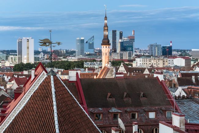 Tall Stories Architecture Building Exterior Built Structure Capital Cities  City Cityscape Downtown District Elevated View Enjoying The View Estonia Europe From Above  High No People Outdoors Roof Sky Skyscraper Tallinn Tower Towers Travel Travel Travel Destinations Urban Skyline