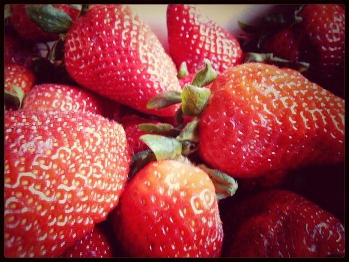 #strawberry #red #morning #beautiful