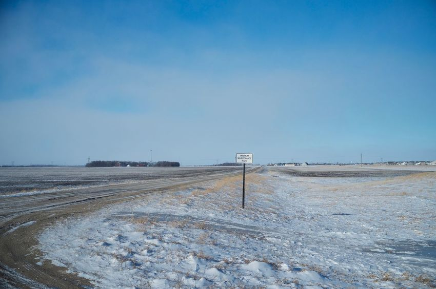 2-12-16 Clear Sky Copy Space Fargo Horizon Over Land Horizon Over Water Landscape Leading Narrow North Dakota Outdoors Remote Sand Scenics Sky The Way Forward Tranquil Scene Tranquility Voyage West Fargo