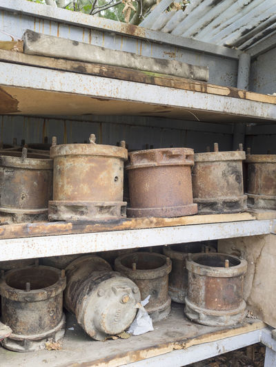 View of old rusty pipes