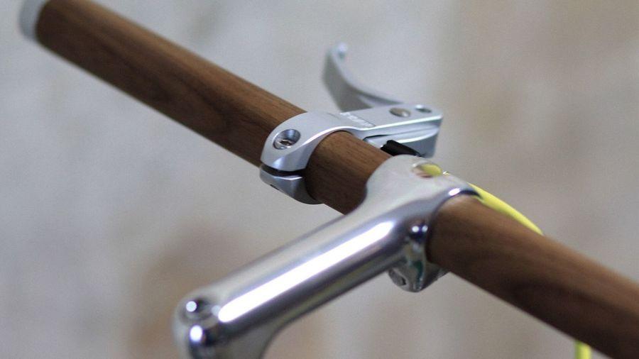 Cropped image of bicycle brake