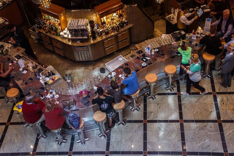 Architecture At The Bar Building Interior Drink Drinking Free Time Hanging High Angle View Holydays Inside Peolpe Shopping View View From Above Viewpoint