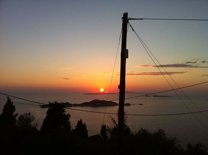 The Purist (no Edit, No Filter) Sunset Sea Power Lines