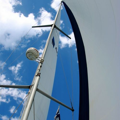 Low Angle View Sky Cloud - Sky Nature Outdoors Sailboat Water Sea EyeEm Selects Croatia Boat Mode Of Transport Sailing Ship Bavaria Lifestyles Vela Sailing Holiday