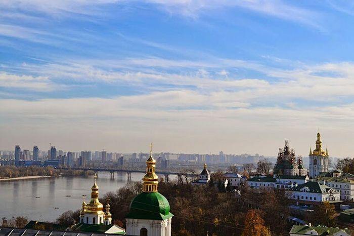 пейзаж купола Церковь Sky City Blue Sky Travel Colors Colorful город