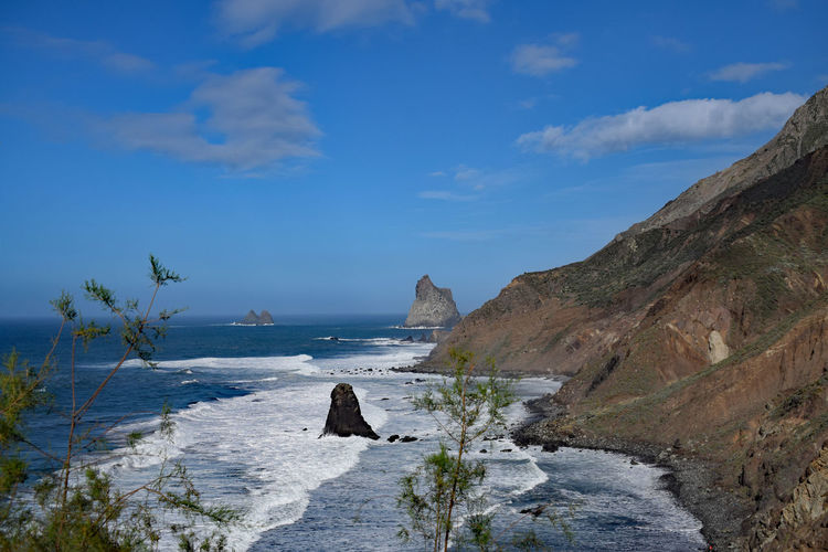 On the beach of Taganana in the northeast of the island of Tenerife -Am Strand von Taganana im Nordosten der Insel Teneriffa, Canary Islands Beauty In Nature Day Nature No People Outdoors Scenery Scenics Sea Sky Taganana Tenerife Tenerife Island Teneriffa Water