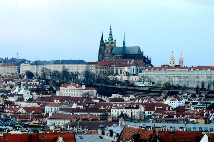 Prague Castle Against Sky In City