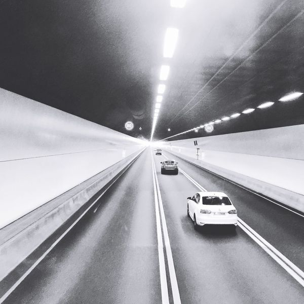 Tsuen Wan - On My Way to the Downtown of Kowloon City in Hong Kong ~ Tunnel Cars Drive Blackandwhite Black And White Island Beautiful Architecture