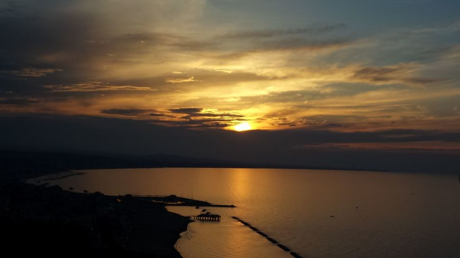Gabicce Bay! Federicofaliniphoto Colours Water Beauty Sea Sunset Swimming Nautical Vessel Horizon Beach Low Tide Gold Colored Seascape Romantic Sky Dramatic Sky Coast Horizon Over Water Atmospheric Mood Refraction Calm Majestic Atmosphere Cumulus Wave Moody Sky