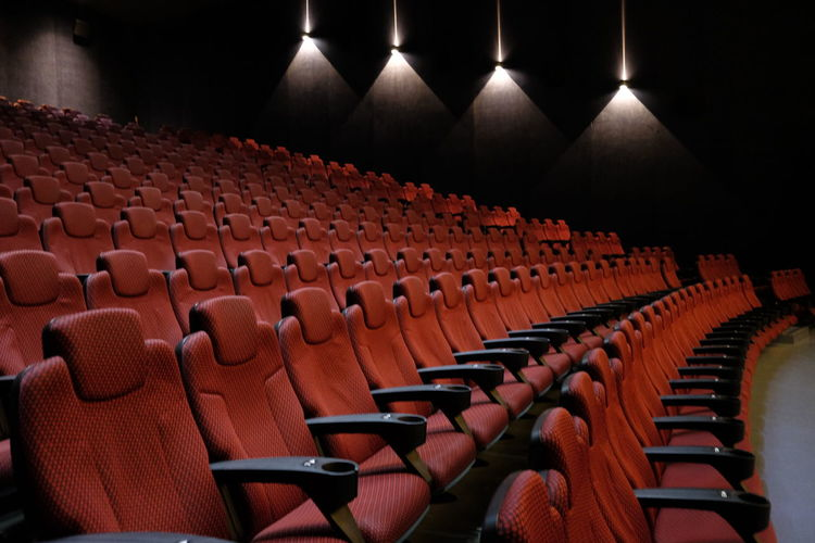 Chairs in movie theater