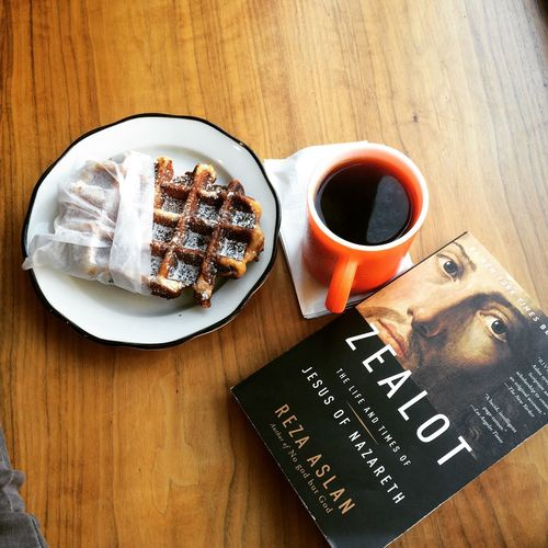 Breakfast at Everyman Espresso on May 7, 2015 in New York City. #waffle #coffee Coffee And Sweets