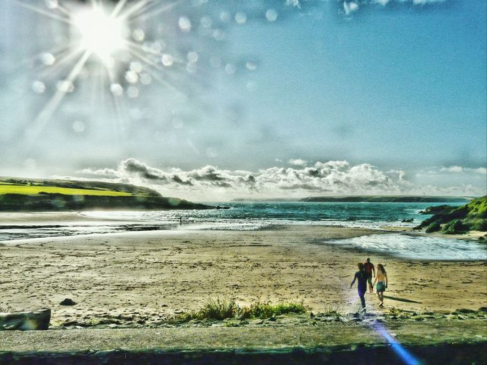 Summer Memories 🌄 Pembrokeshire Coast Enjoying Life Taking Photos Sun Light Sun Rays Through The Clouds Nature On Your Doorstep Angle Beach The Essence Of Summer.