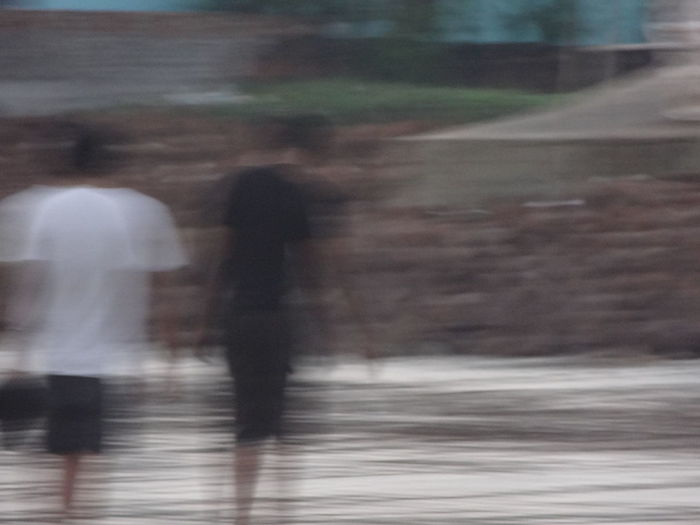 Blurred Motion Defocused Motion On The Beach On The Move Outdoors Unrecognizable Person Showing Imperfection Need For Speed