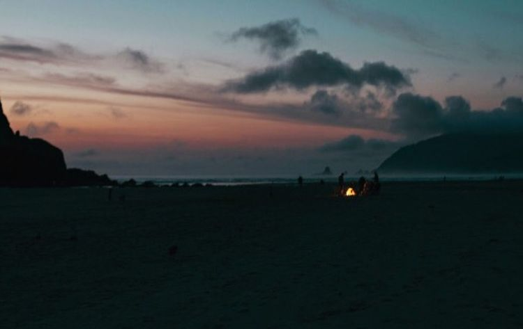 Cannon Beach, OR. Today I'm back in my warm home, but I can't stop thinking about how much we craved a bonfire this summer. We would've killed to escape the wind haha Open Edit