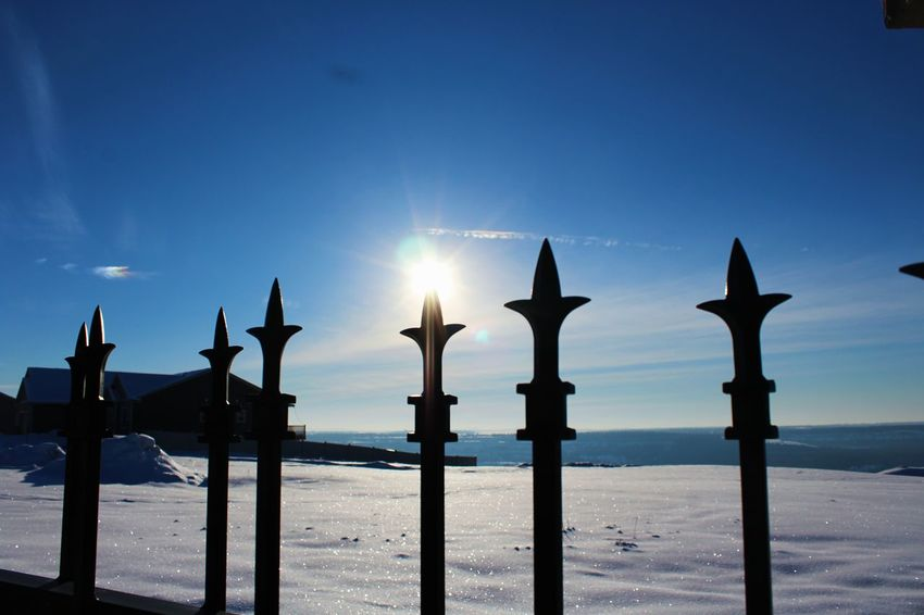 Sun Scenics Silhouette Sky Outdoors Landscape Winter Wonderland