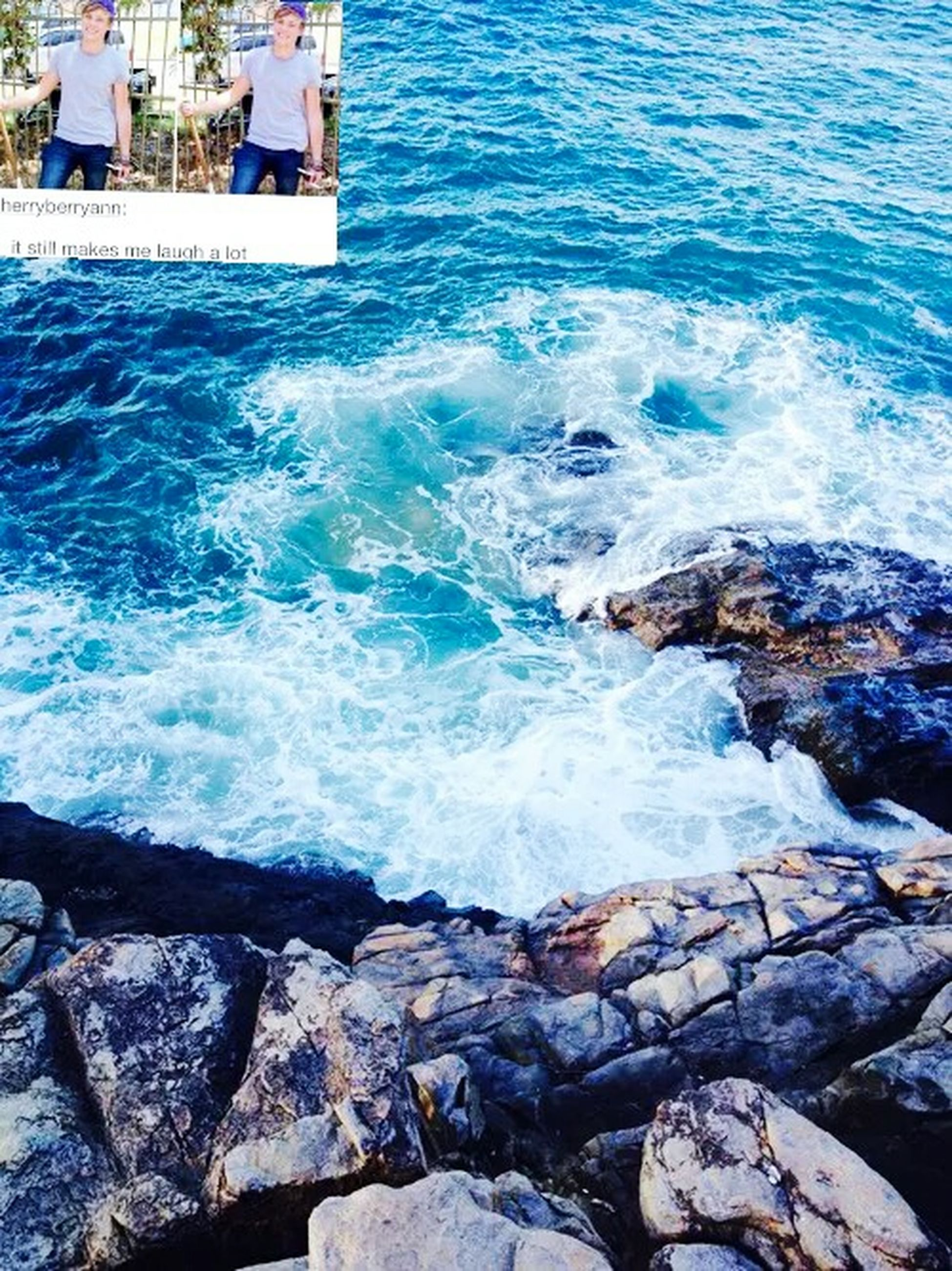 water, sea, rock - object, wave, surf, high angle view, nature, shore, motion, beauty in nature, day, rock, scenics, rippled, no people, outdoors, coastline, building exterior, built structure, rock formation