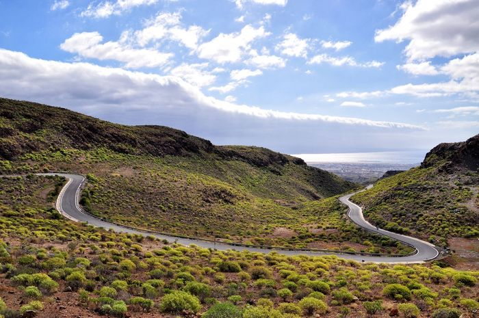 Roads on gran Cambria island Blue Cloud - Sky Sky Travel Destinations Landscape Winding Road Outdoors Vacations Nature High Angle View Gran Canaria Island Road Way View Traveling Road Trip The Great Outdoors - 2017 EyeEm Awards