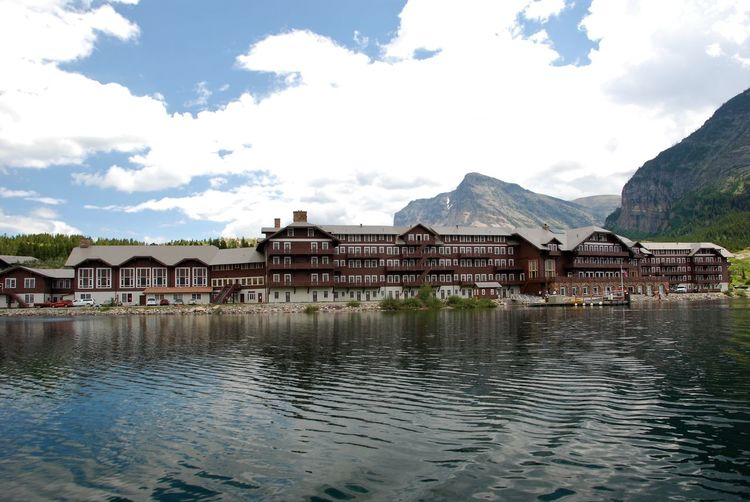 Architecture Building Exterior Built Structure Cloud - Sky Day Glacier National Park Montana Lake No People Outdoors Overlook Hotel Reflection Sky Stephen King The Shining Travel Destinations Water Waterfront