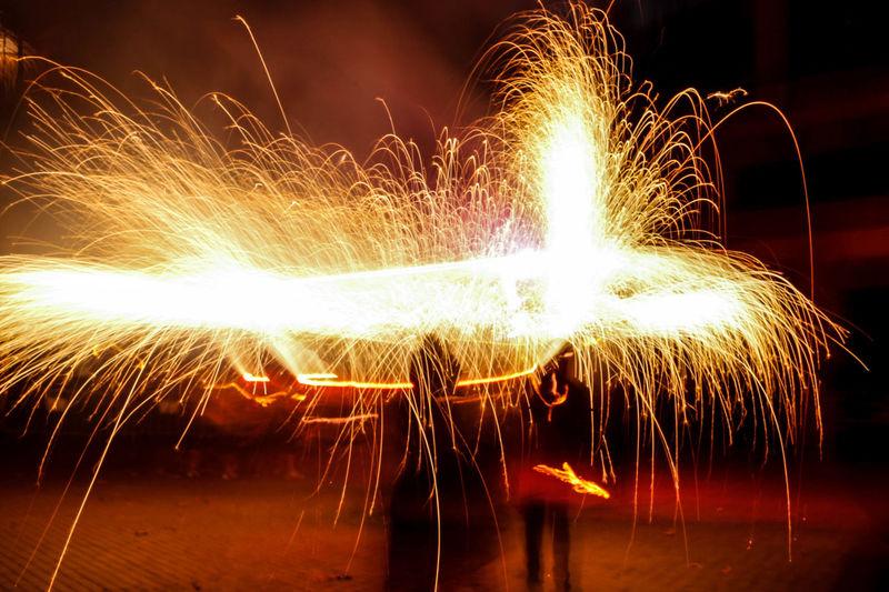 Diables Lightpainting Nightphotography Night Lights Long Exposure Correfoc Fireworks