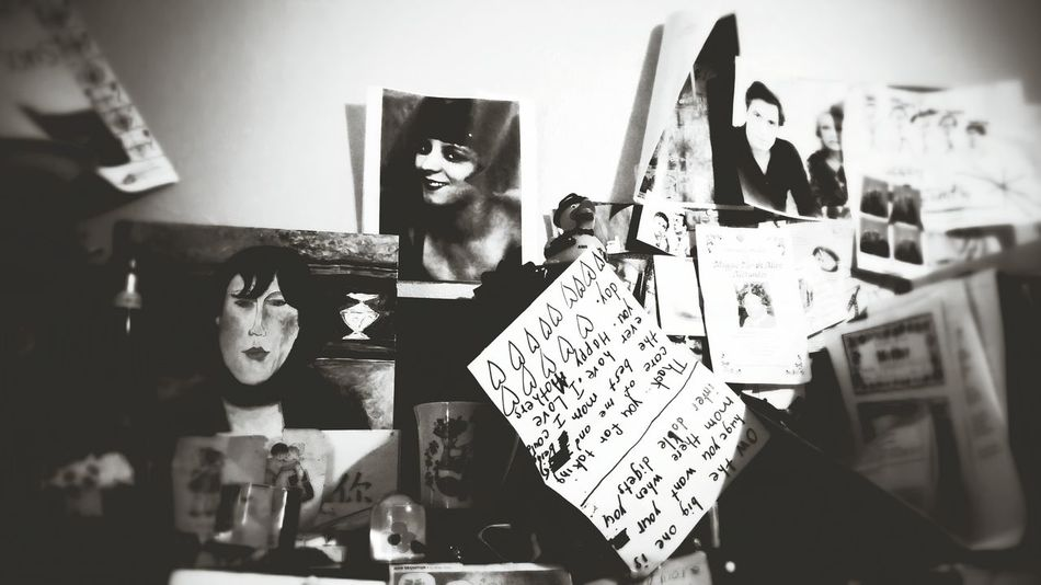 Inspiration board. Writing What's In Your Office? Motivation Spirit Board Kiki De Montparnasse Muses John Cassavetes Gena Rowlands Família