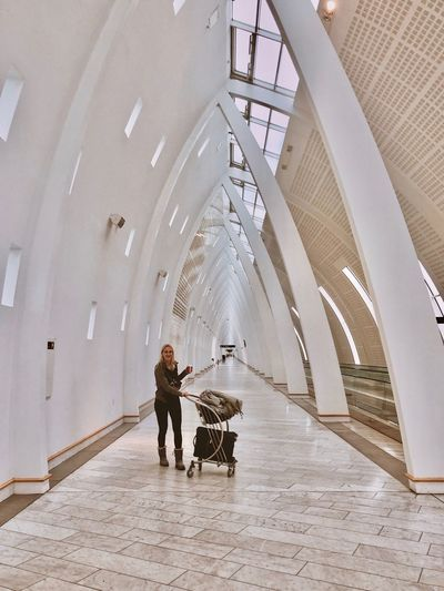 Airport Architecture Full Length Built Structure Adult Walking People Rear View Real People Two People Day Indoors  Transportation Travel