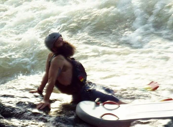 Whitewater Paddling Chattahoochee River Columbus, Ga Sport Relaxing On The Hooch Taking A Break Taking A Breather Beardlife Beard