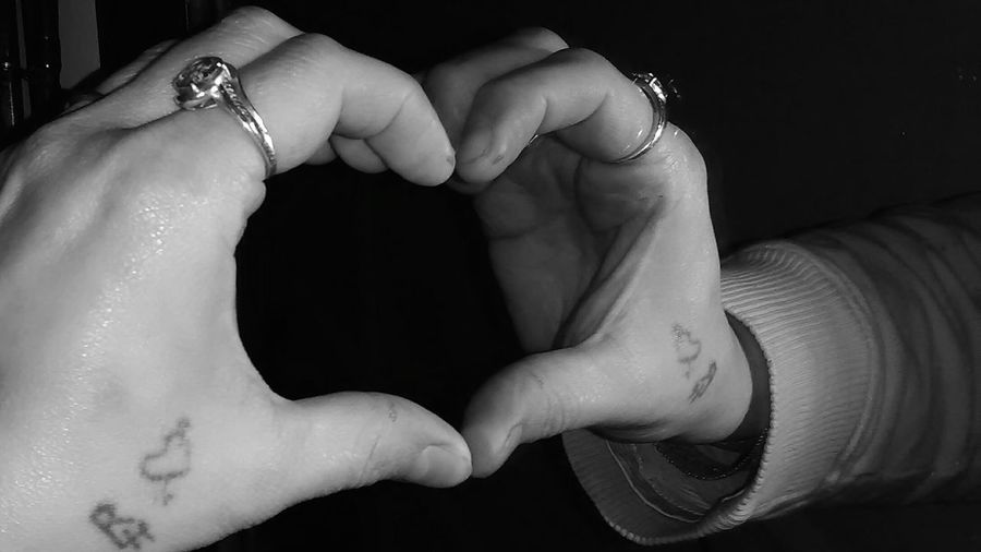 A broken heart made whole... Mirror Mirror Reflection Heart Heart Shape Broken Heart Blackandwhite Love Reflection Mirror Image Heart Mirror Image, Reflection, Reflexion Mirror Image EyeEm Selects Human Hand Human Body Part Human Finger One Person People Ring Adults Only Adult Close-up Indoors